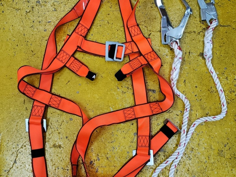 Climax 30C Full body harness with big hook lanyard 全身式安全帶連大扣尾繩